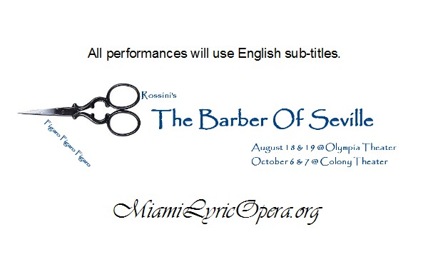 Miami Lyric Opera BARBER OF SEVILLE banner